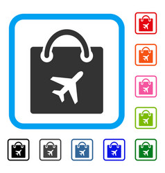 duty free shopping framed icon vector image