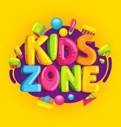 kids zone vector image vector image