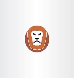 lion logo icon vector image vector image