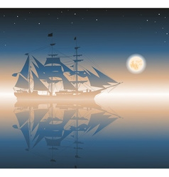 Old Ship Sailing the Seas vector image