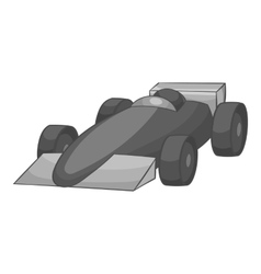 Race car icon black monochrome style vector
