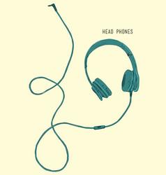 sketch style headphones vector image vector image