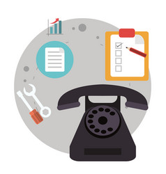 telephone call center logistic vector image