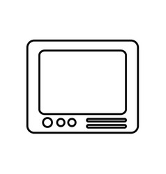 Television icon image vector