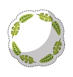 tropical leafs decorative icon vector image