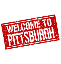 welcome to pittsburgh stamp vector image