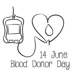 World blood donor day hand draw vector