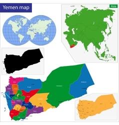 Yemen map vector image vector image