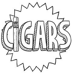 Cigars vector image