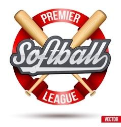 Softball circle symbol vector