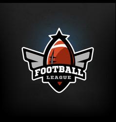 american football sports logo vector image