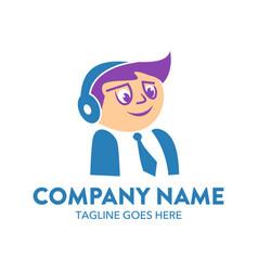 businessman logo-5 vector image