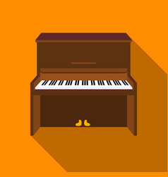 Piano icon in flat style isolated on white vector