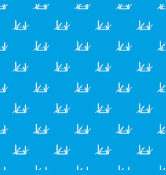 Pocket flashlight pattern seamless blue vector