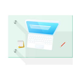 Modern computer on the table vector