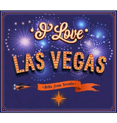 Greeting card from las vegas - nevada vector
