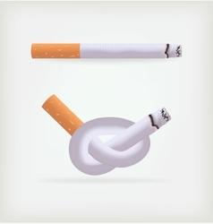 Two cigarettes vector