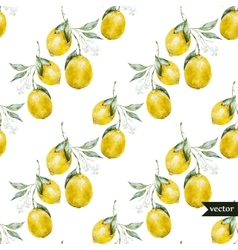 Lemon pattern2 vector