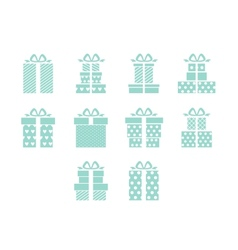 Open and closed box icons vector