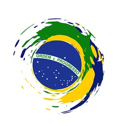 Brazil flag design vector