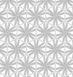 Repeating ornament gray hexagon net with lines vector