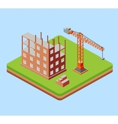Industrial city building vector