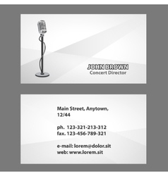 Business card with microphone vector