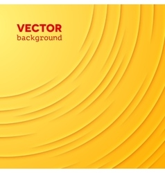 Abstract background with yellow layers vector