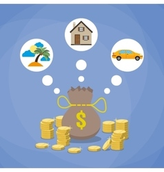 Investment savings future planing concept vector