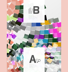 Abstract geometrical texture with infographic vector