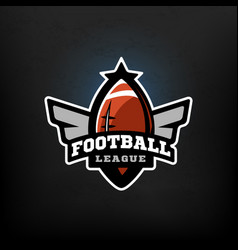 american football sports logo vector image vector image