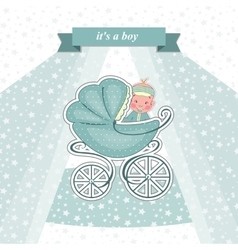 Baby shower card for a newborn vector