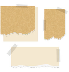 cardboard papers in three designs vector image