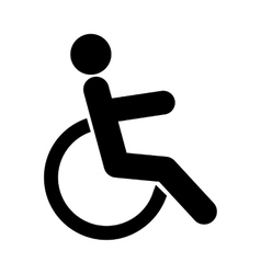 Disabled sign icon vector image vector image