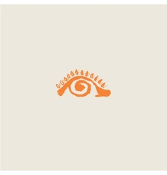 Eye - the sun the pupil spiral vector image