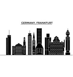 germany frankfurt architecture city vector image vector image
