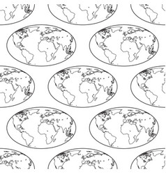 globe contour pattern vector image