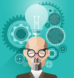 Head with Creative brain idea concept vector image
