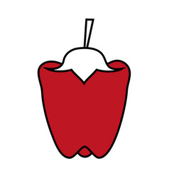 Peppers food flat vector