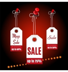 Sale banners design with shining elements vector image vector image