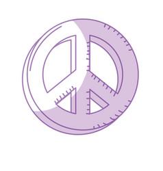 Silhouette beauty hippie emblem symbol design vector