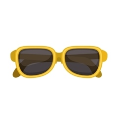 silhouette sunglasses with yellow frame vector image vector image