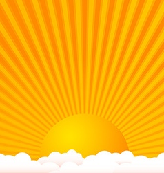 Sun above clouds vector image vector image