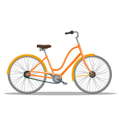the old orange classic bicycle vector image vector image