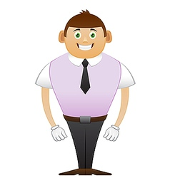 thin office man Hollywood smile vector image vector image