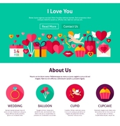 Website Design I Love You vector image vector image