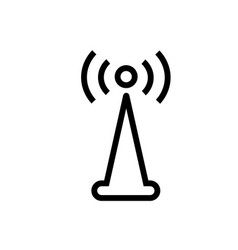 wifi signal tower icon vector image
