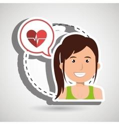 Woman heart cardio gym vector