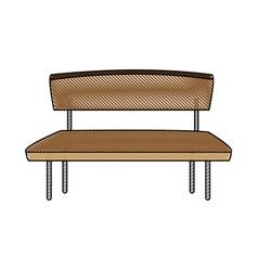 wooden bench park exterior empty vector image vector image