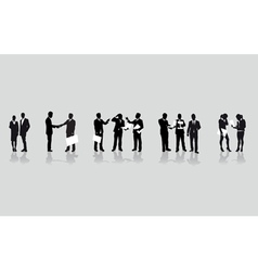 business people line vector image